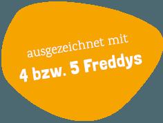 Ausgezeichnet mit 4 bzw. 5 Freddies